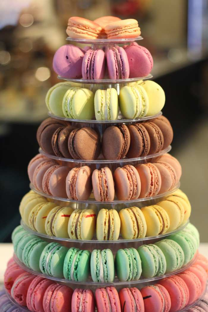 A beautiful display of tasty macarons